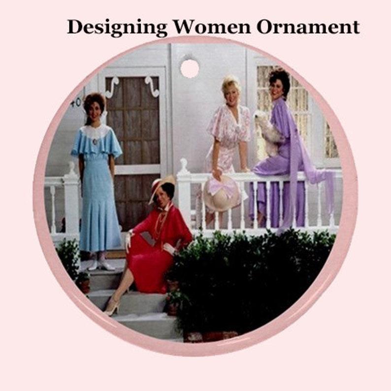pink tree cult holidays fun tv Christmas Ornament designing women cult tv xmas 80s christmas 80s