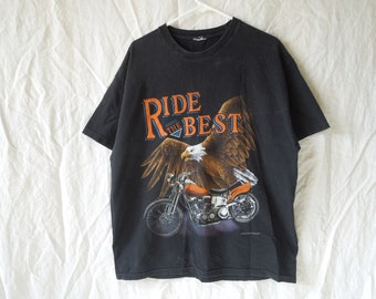 90s Ride The Best Motorcycle Eagle T-Shirt