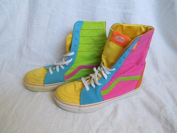 SALE 80s 90s Vans Neon High Top Sneakers  07707b19f