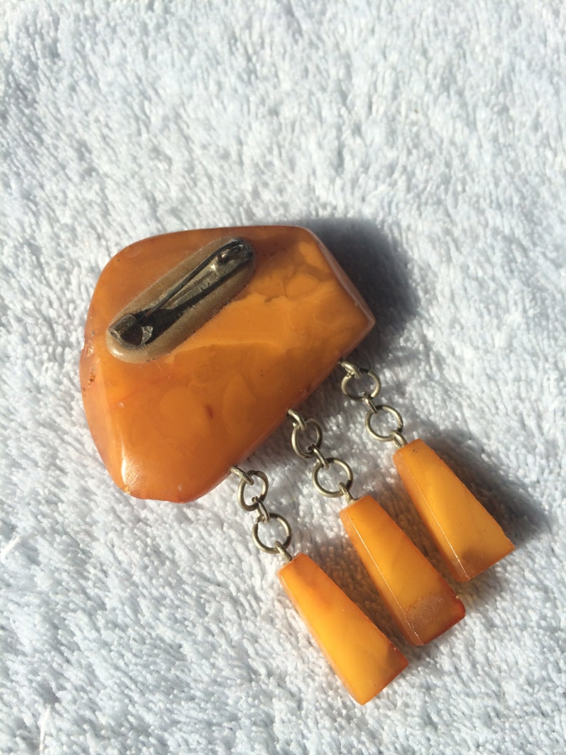 Vintage Baltic Amber Brooch Circa 60s70s .Ambers pinbrooch.Jewelry.Very old ambers.