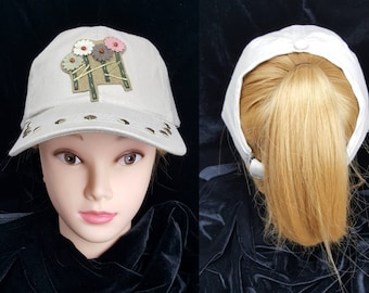 Women s 4 Panel Beige Trucker hat 2833ba98d3a