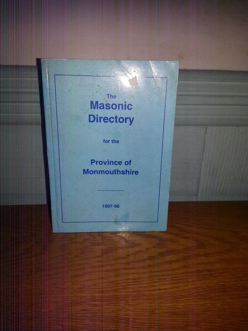 The Masonic Directory For The Province Of Monmouthshire Dated 1997-98  Freemason Booklet Freemasonry Freemasons