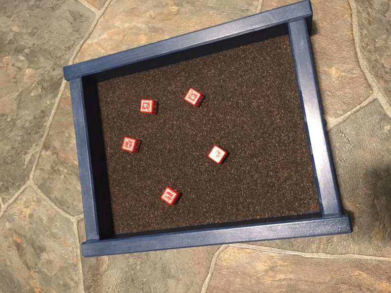 Solid Wood Dice Tray With Cork Lining Etsy