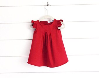 02d9555d90338 Items similar to Toddler Valentine Dress, Girls Red Dress, Girls Red ...