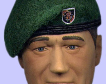 681589ce0260c US Army Green Beret Special Forces 5th Group Vietnam Era Mini Beret fits  12in. Action Figures