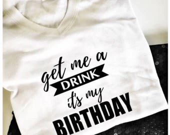 Happy Birthday T Shirt Womens Special Gift For Her Graphic Tees Women
