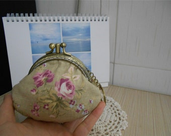 Double Frame Kisslock Bag Coin Purse