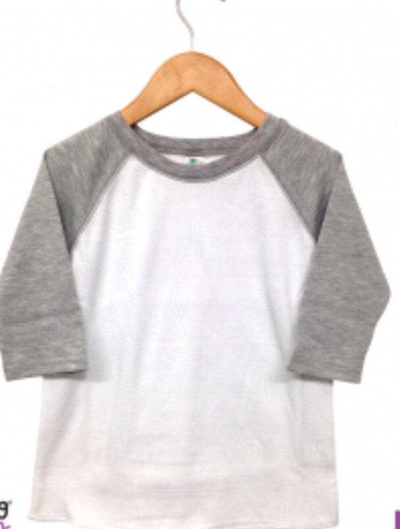d3a47afa8 Upgrade blank baseball tee raglan t shirt 3/4 sleeve white | Etsy
