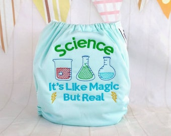 NRDXQ Funny Chemistry Science Wet Dry Cloth Diaper Bags Baby Waterproof Washable Reusable Hanging Diaper Organizer