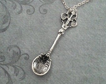Spoon Necklace LARGE Victorian Spoon Jewelry Vintage Spoon Pendant Antique Spoon Charm Necklace Bridesmaid Necklace Girlfriend Jewelry Gift