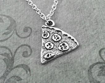 Pizza Necklace Pepperoni Pizza Jewelry Pizza Charm Necklace Pizza Slice Necklace Pizza Pendant Necklace Pizza Gift Bridesmaid Necklace