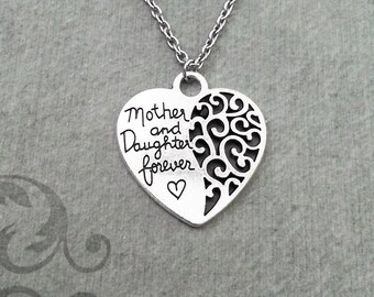Mother and Daughter Forever Necklace Mom Necklace Daughter Necklace Mother Necklace Mother's Day Gift Mother's Day Jewelry Mom Heart Jewelry