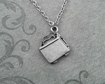 Toaster Necklace VERY SMALL Toaster Jewelry Toast Necklace Silver Pendant Necklace Breakfast Food Necklace Food Jewelry Breakfast Gift
