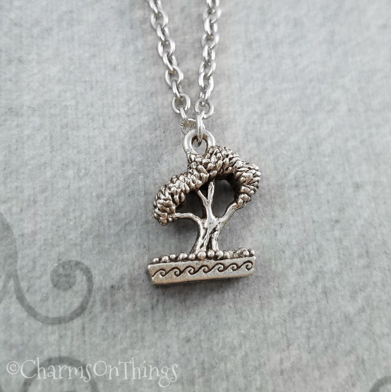 Sterling Silver Cypress Tree With Roots Charm
