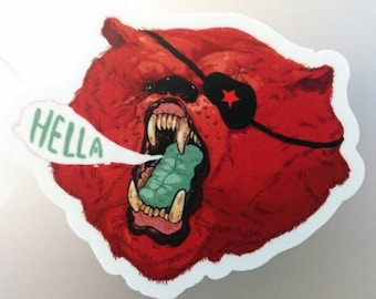 Hella Cali Bear - Sticker