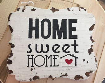 Hand Painted Home Sweet Home Sign