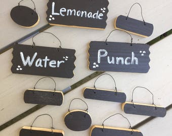 Mini Chalkboard Painted Wooden Tags