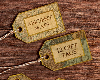 Vintage maps digital paper vintage and antique maps of europe printable gift tags old world maps gift tags digital gift tags with vintage maps and old paper labels instant download digital tags gumiabroncs Gallery