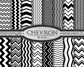 Black Chevron Digital Paper: Chevron Background, Chevron Scrapbook Paper, Chevron Digital Download, Digital Chevron Paper, Chevron Printable
