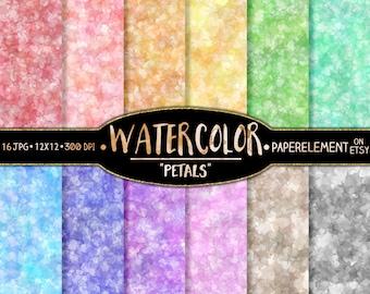 Water Color Digital Paper: Water Color Scrapbook Paper Pack, Pastel Watercolor Graphics, 12x12 Watercolor Print, Watercolor Digital Download