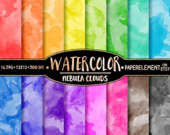 Watercolor Digital Paper: Watercolor Scrapbook Paper, Digital Watercolor Paper, Watercolor Background, Watercolor Printable Water Color Art