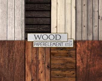 Rustic Wood Digital Paper: Wood Backdrop, Printable Wood Digital Background, Wood Scrapbook Paper 12x12, Wood Background Instant Download