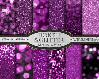 Pink Glitter Digital Paper: Pink Glitter Paper, Pink Bokeh Paper, Pink Bokeh Digital Paper, Pink Digital Bokeh Pink Digital Glitter Download