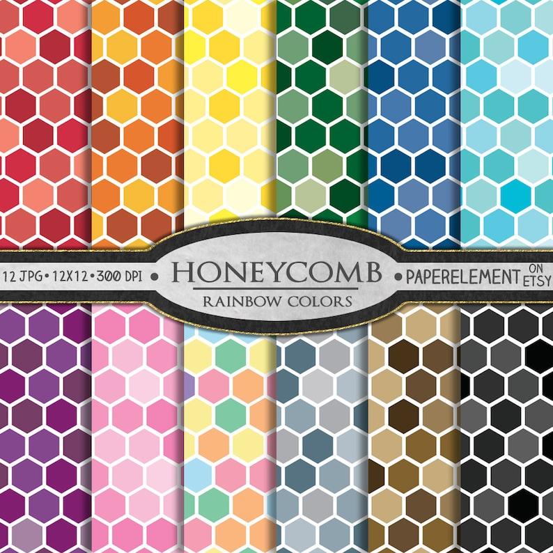 photo regarding Patterns Printable called Honeycomb Electronic Paper: Honeycomb Styles, Printable Honeycomb Backgrounds, Honey Comb Sbook Paper, Hex Behavior, Hexagon Practice 12x12