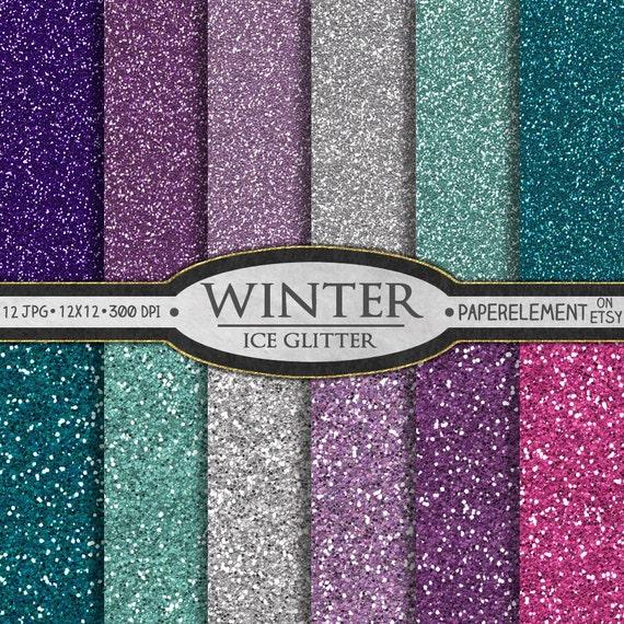 glitter digital paper blue glitter paper pink and purple etsy