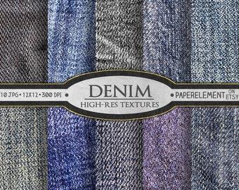 Denim Digital Paper, Blue Jean Backgrounds, Denim Backgrounds, Denim Textures, Blue Jean Textures, Jeans Backdrops, Printable Denim Papers