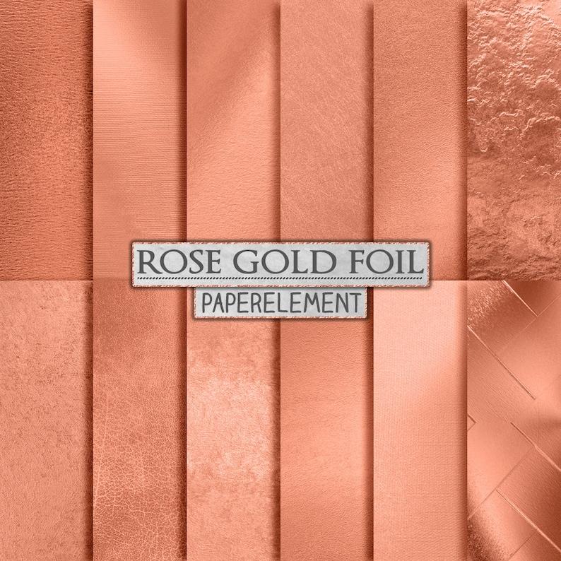 f0c8fafd01e6 Rose Gold Foil Backgrounds  Rose Gold Digital Paper Metallic