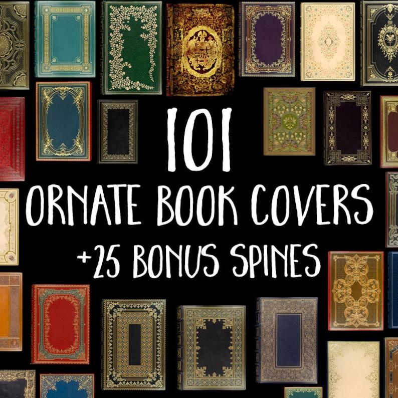 101 Decorative Book Covers: Book Digital Paper Old Book image 0