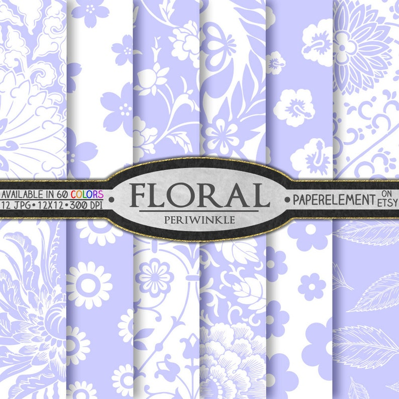 purple floral scrapbook paper