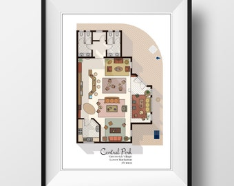 Central Perk Cafe Floor Plan   Friends TV Show Layout  Central Perk Cafe  Interior Layout From Friends TV Show