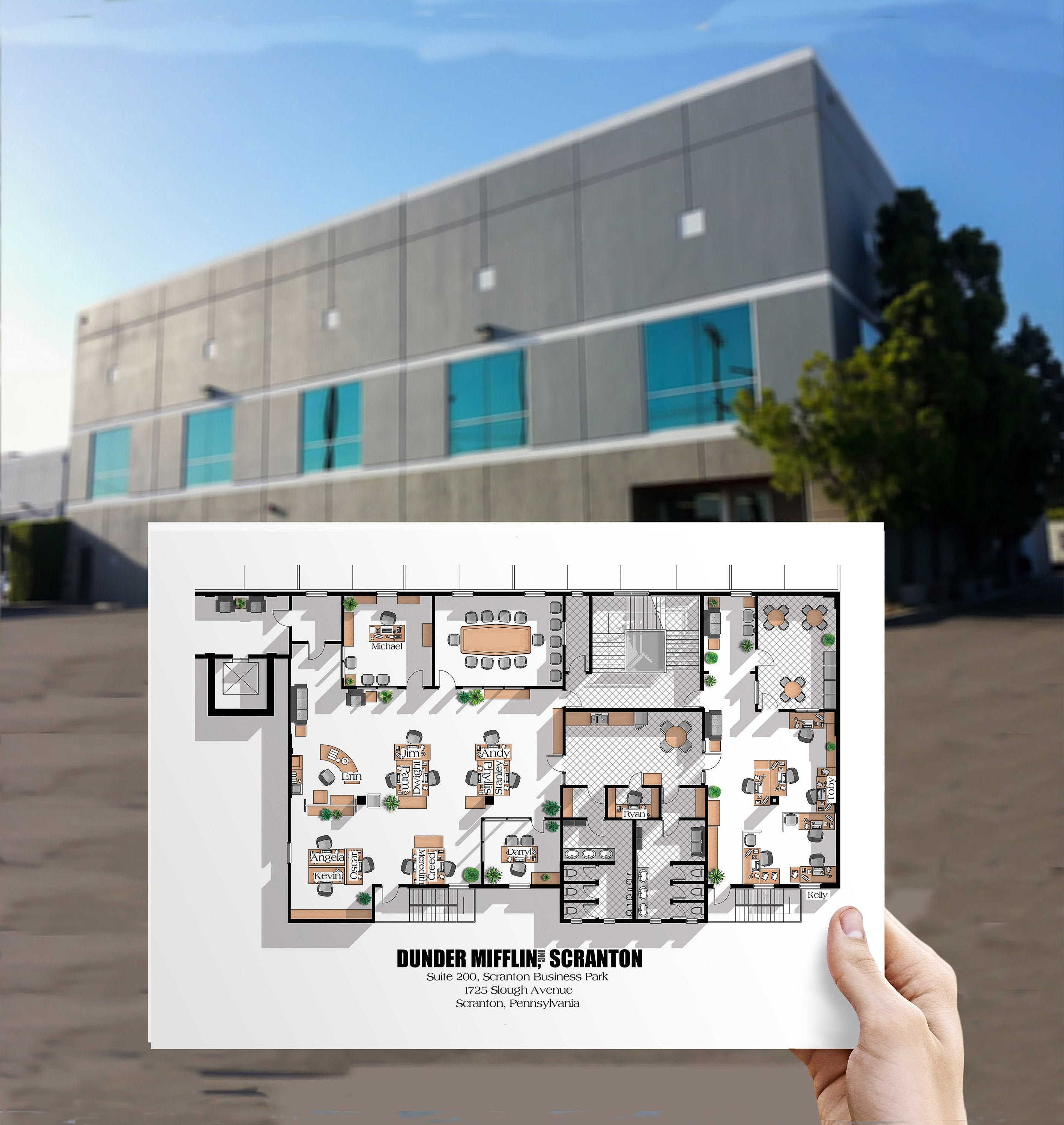 The Office Us Tv Show Office Floor Plan Poster Dunder Etsy