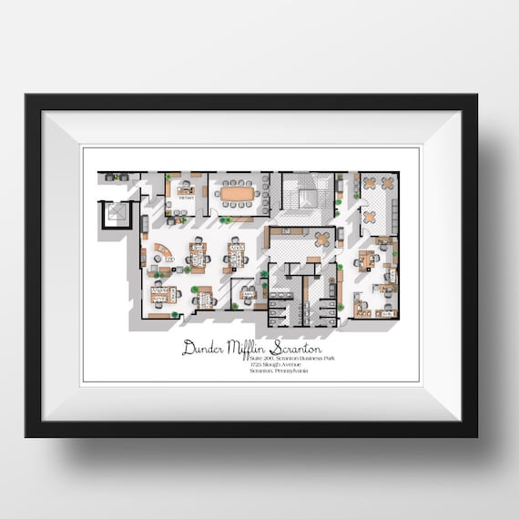 the office floor plan. The Office Floor Plan L