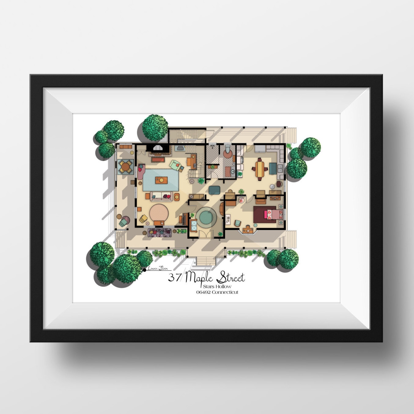 New Gilmore Girls House Floor Plan Lorelai And Rory S Etsy