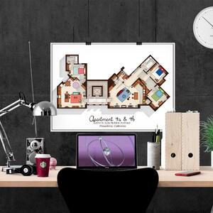 Gossip Girl Apartment Floor Plan Tv Show Floor Plan Blair Etsy