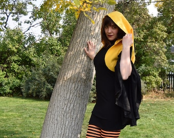 Pixie Shrug/Bolero Sleeveless with large pointy hood- Choose your color- Great Fairy accessory