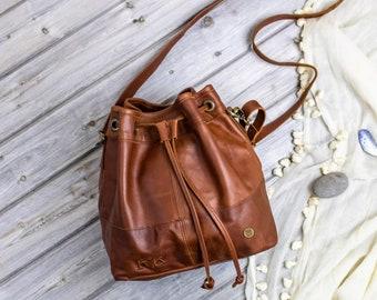 3f3057107159 Leather bucket bag | Etsy