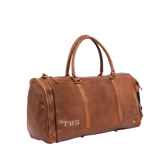 Handmade Premium Leather Holdall   Duffle Personalized  f52cb69d68e32