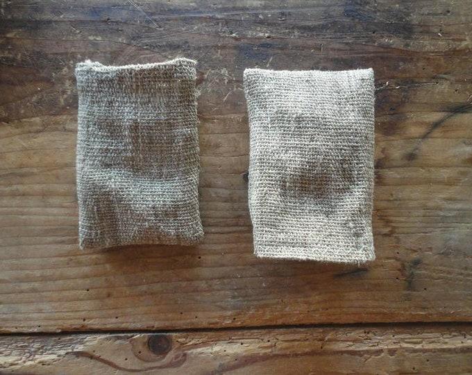 rough SOAP BAG, handmade from handwoven hemp or nettle