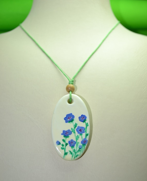 handmade jewelry air dry clay necklace clay jewelry flower etsy