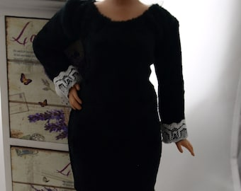 061246977c Curvy doll evening dress, stretch.