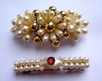 Vintage hair barrette hair accessories hair slide hair clip hair jewelry hair ornament hair decoration hair adornment