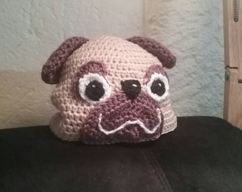 Pug beanie and pug booties puppy all sizes.