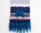 Totem / / big woven wall hanging / / tapestry weaving Fiber Art