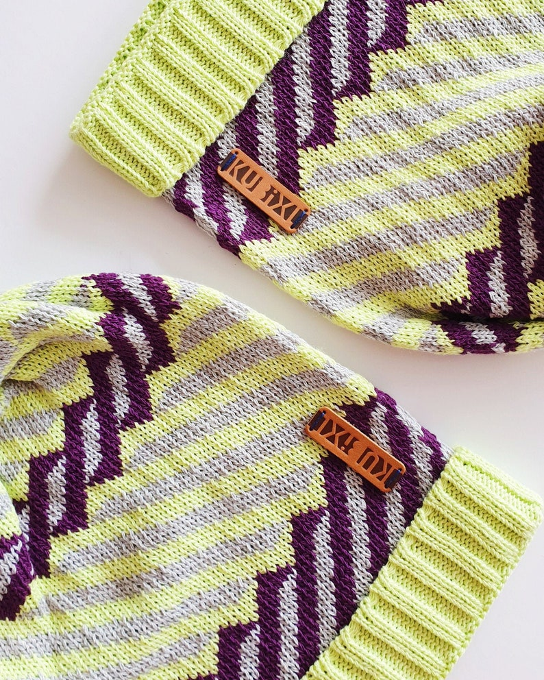 Beanie Hat / Slouchy Winter Hat / Colourful Beanie / Stocking image 0