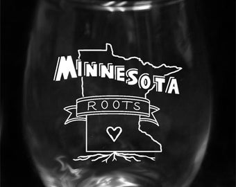 Minnesota Roots Stemless Wine Glass