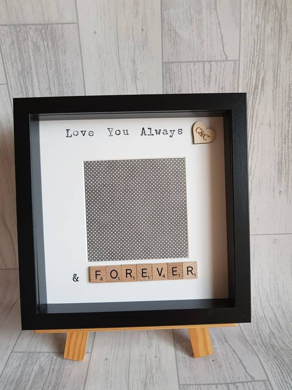 Love You Today Tomorrow Always Frame For Him For Her Etsy